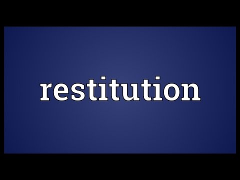 Restitution Meaning