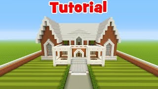 Minecraft Tutorial: How To Make A Suburban Mansion #2
