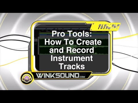 Pro Tools: Record Virtual Instruments With Instrument Tracks | WinkSound