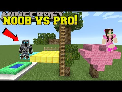 Minecraft: NOOB VS PRO!!! - BUILD BATTLE PRO TEAM! - Mini-Game (видео)