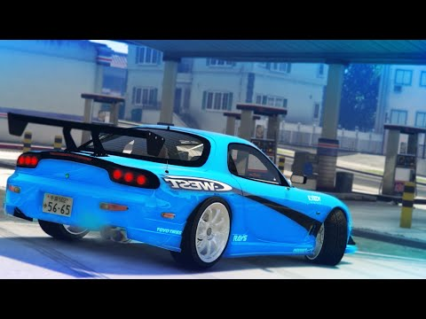 GTA 5 - MAZDA RX7 DRIFT MONTAGE (Drifting To The Gas Station)