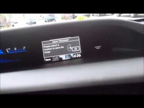 How to upload a picture to your 2012 or 2013 honda Civic's IMID display