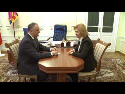 Președintele Republicii Moldova, Igor Dodon, a avut o întrevedere cu Bașcanul Autonomiei Găgăuze, Irina Vlah.