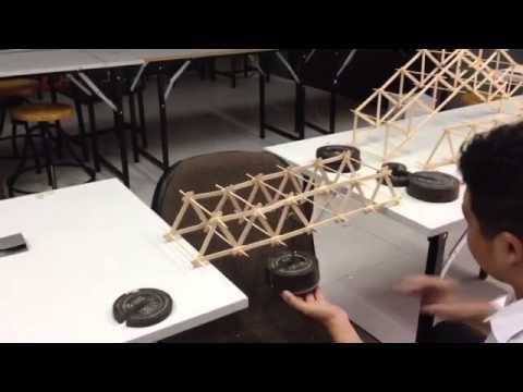 Test โมเดลไม้ไอติม โครงสร้าง Truss