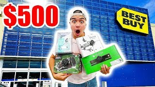 We spent $500 at best buy!! The ultimate best buy challenge!GIVING AWAY OVER $100 IN GIFT CARDS HEREhttps://gleam.io/8GL0M/gamestopxboxpsn-gift-cards-from-legitlooks-and-overtflowMORE DAILY EPISODES HEREhttps://www.youtube.com/playlist?list=PLL_I76GNm_F6drpVNfkeXnSsScJyNVqXG- CRAZY DEALS HERE!!http://www.legitlooksforlife.bigcartel.com- PO BOX (SEND ME SOMETHING)P.O. Box #14043 Zip- 78214 San Antonio, TX- SOCIAL MEDIA (FOLLOW ME)Instagram: https://instagram.com/timtheactorTwitter: https://twitter.com/theactortimSnapChat: https://snapchat.com/add/timtheactormusic by: www.soundcloud.com/engelwoodmusicFor business inquires please contact : LegitBookTim@yahoo.com