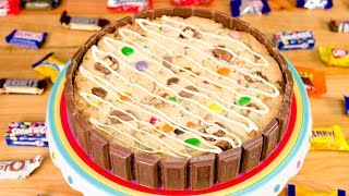 Giant Cookie Cake With Leftover Halloween Candy From Cookies Cupcakes And Cardio