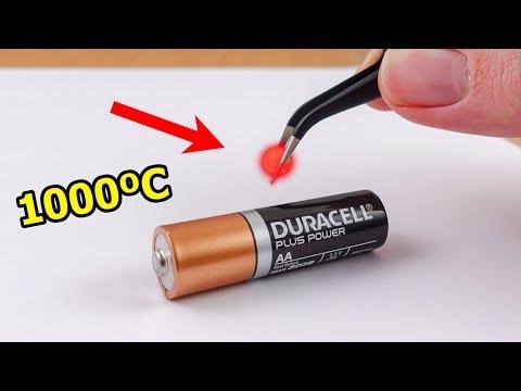 EXPERIMENT: Glowing 1000 Degree mini METAL BALL vs BATTERY - Thời lượng: 11 phút.