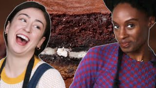No Recipe Challenge: Oreo Cookie Brownies • Tasty by Tasty