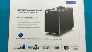 Akitio Thunder2 Quad Enclosure Review