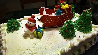 How to Make a Christmas and New Year Cake PART 3