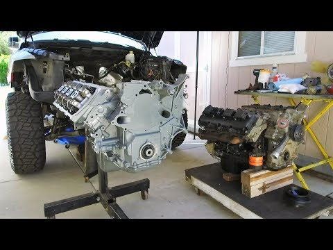 "HEMI Swap With Jasper Engines Replacement 5.7 In A Dodge Ram 1500 On 37"" Tires"