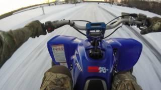 9. 2007 Yamaha yfz 450 snow trip