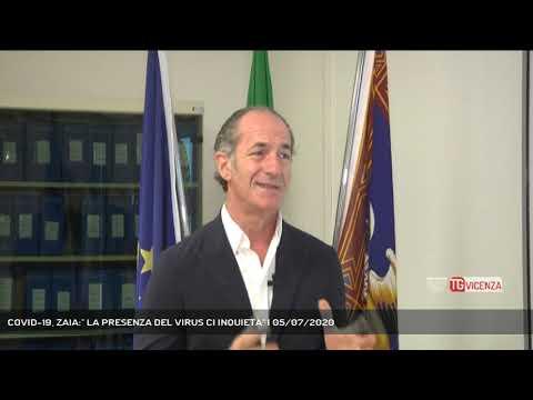 COVID-19, ZAIA:'' LA PRESENZA DEL VIRUS CI INQUIETA'' | 05/07/2020