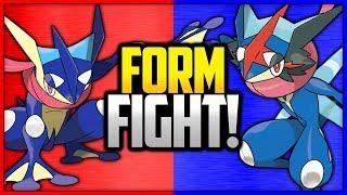 Greninja vs Ash-Greninja   Pokémon Form Fight by Ace Trainer Liam