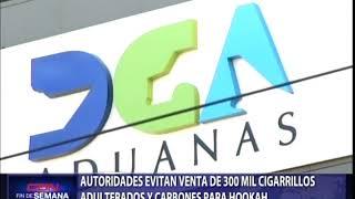 Autoridades evitan venta de 300 mil cigarrillos adulterados y carbones para hookah
