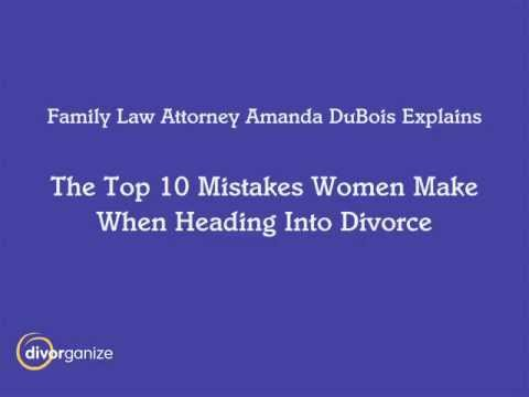 The Top Ten Seattle Divorce Mistakes – Seattle Divorce Attorney Amanda  DuBois