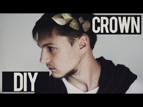 DIY  * How to make costume Julius Caesar Crown Headband of cardboard *  Tutorial