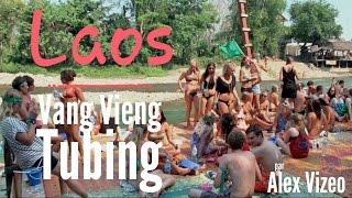 Vang Vieng Laos  City pictures : LAOS : Tubing à Vang Vieng Tubing