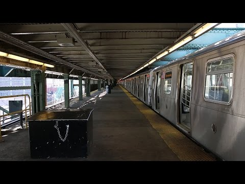 NYC Subway: (N) Trains Terminating at Queensboro Plaza (видео)