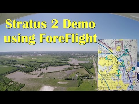 ForeFlight Stratus 2 Demo on a Extreme Crosswind Day