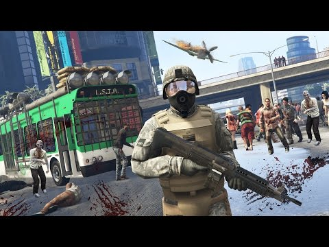 GTA  5 Mods - ZOMBIES APOCALYPSE MOD!!  (GTA 5 Mods Gameplay) (видео)