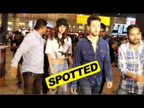 Tiger Shroff & Disha Patani Spotted At Mumbai Airport