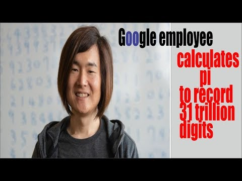 Google employee calculates pi to record 31 trillion digits