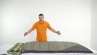 Широкий кемпинговый спальник со съемным подголовником. Alexika Siberia Wide Transformer