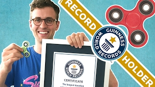 We set the Guinness World Records title for the longest duration of spinning a fidget spinner on the nose. Credits: https://www.buzzfeed.com/bfmp/videos/18935 ...