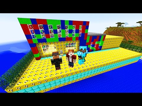 LUCKY BLOCKS RED VS BLUE VS GREEN MOD CHALLENGE – MINECRAFT MODDED MINI-GAME!