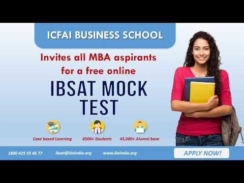 ICFAI Business School Mock Test #IBS #IBSAT2018
