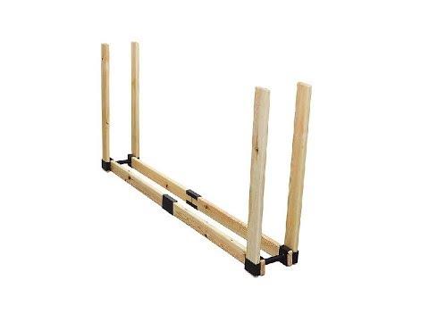 Montaj suport pentru depozitat lemne de foc