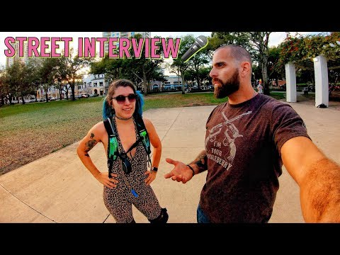 Crazy Cool Roller Skate Skills Interview Downtown St. Pete Florida