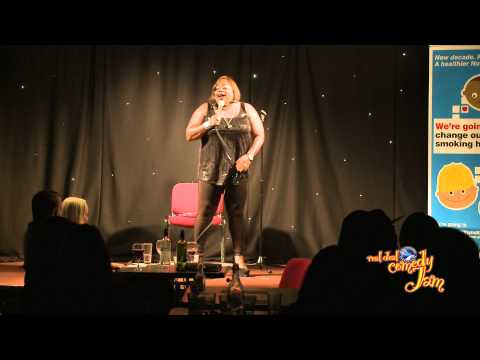 Comedian Coco Brown on the Real Deal Comedy Jam - Nottingham England