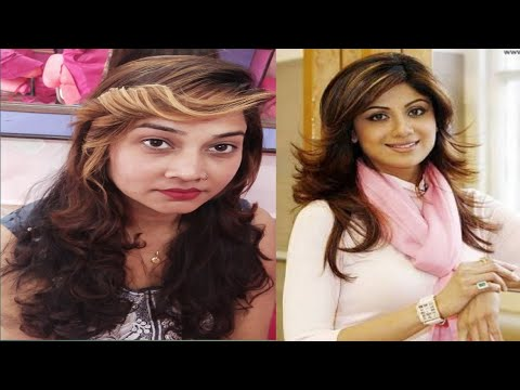 Hair cutting - Shilpa Shetty  style hair cut!!Steps Hair cut in long hair!! Multi steps cut full tutorial
