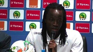 """""""On ne craint pas l'Egypte"""", a souligné Bakary Koné, défenseur du Burkina Faso, lors de la conférence de presse mardi 31 janvier..."""