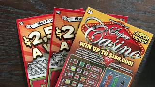 Scratching $5 Super Casino New Jersey & $5 Set for Life Texas Lottery Scratch Off Tickets. Will I find a big win? Stay tuned.