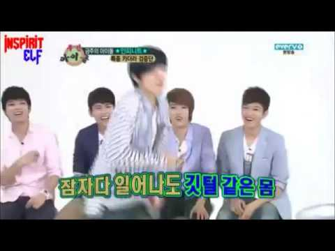 INFINITE FUNNY MOMENT #53 - DONGWOO DANCING AS SOON AS HE WOKE UP