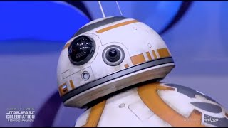 BB-8 droid from The Force Awakens rolls out on stage at Star Wars Celebration Anaheim - YouTube