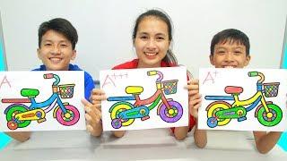 Rainbow Bicycle Warna Warni Belajar Menggambar dan Mewarnai untuk Anak   Sepeda Halaman Mewarnai