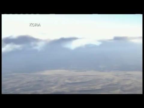 Chopper over Camp Fire in Butte County, California