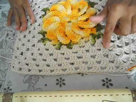Capa Tampa do Vaso em Croche - Jogo de Banheiro Barbante - Aprendendo
