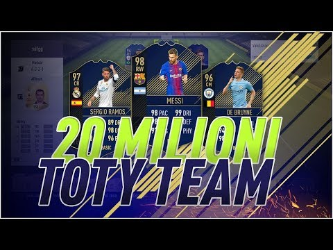 Video LA MIA SQUADRA TOTY DA 20 MILIONI DI CREDITI! - MY BEST TEAM FIFA 18 download in MP3, 3GP, MP4, WEBM, AVI, FLV January 2017