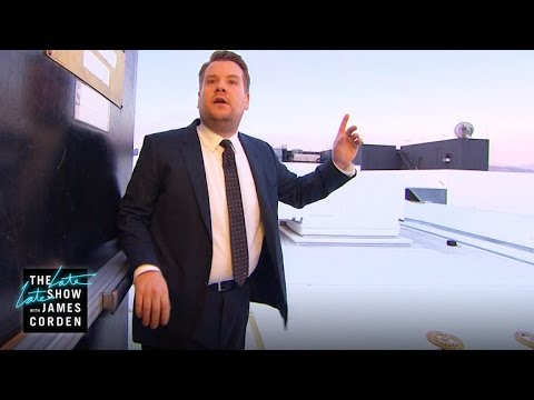 James Corden Gets Lost In a Stairwell