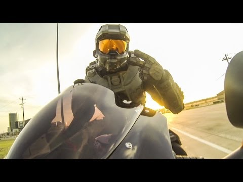 Happy Master Chief - Chief on a Motorcycle