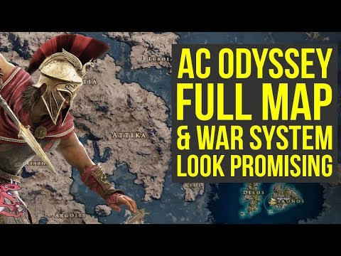 Assassin's Creed Odyssey Map Size & Conquest War System ALL THE INFO (AC Odyssey Map)