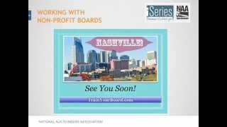 iSeries Webinar: Working With Nonprofit Boards