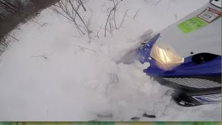 9. Yamaha Nytro gets Buried under Snow while trying to Boon Dock.