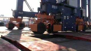 Unloading RTG PT Multi Terminal Iindonesia Port Of Tanjung Priok