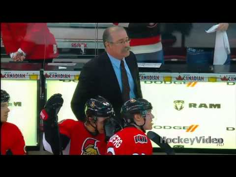 timeout - Paul MacLean takes a time-out with a 6-1 lead and few minutes left in the game. 2013 nhl stanley cup playoffs - Montreal Canadiens vs Ottawa Senators.